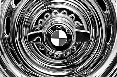 Photograph - 1957 Bmw Wheel Emblem by Jill Reger