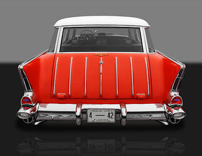 Photograph - 1957 Chevrolet Bel Air Nomad by Frank J Benz