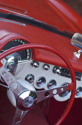 Photograph - 1957 Chevrolet Corvette Steering Wheel by Jill Reger