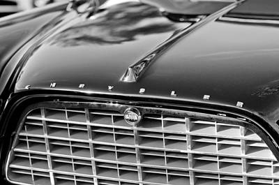 Photograph - 1957 Chrysler 300c Grille Emblem by Jill Reger