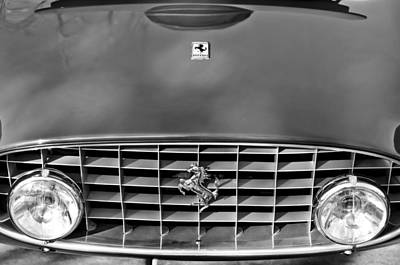 Photograph - 1957 Ferrari 410 Superamerica Coupe Grille Emblem by Jill Reger