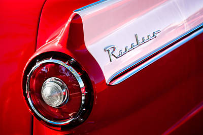 1957 Ford Photograph - 1957 Ford Custom 300 Series Ranchero Taillight Emblem by Jill Reger