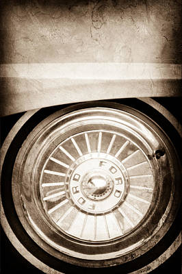 1957 Ford Photograph - 1957 Ford Fairlane Wheel by Jill Reger