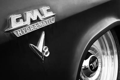 Photograph - 1957 Gmc V8 Pickup Truck Gmc Hydra-matic Emblem by Jill Reger