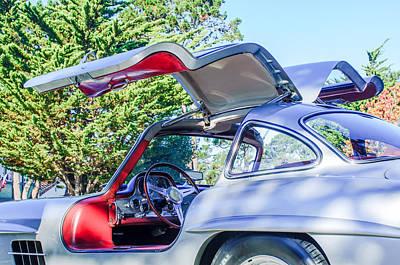 Mercedes Gullwing Photograph - 1957 Mercedes-benz Gullwing  by Jill Reger