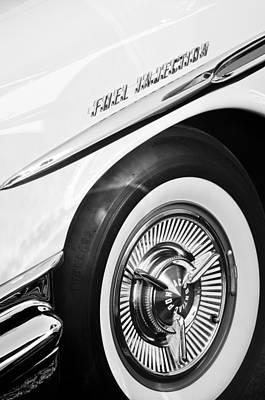 1957 Pontiac Bonneville Wheel Art Print by Jill Reger