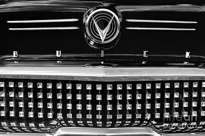 Buick Grill Photograph - 1958 Buick Special Monochrome by Tim Gainey