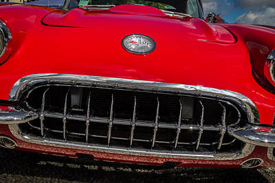 Photograph - 1958 Chevrolet Corvette Grille by Ron Pate