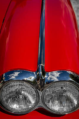 Photograph - 1958 Chevrolet Corvette Headlights by Ron Pate