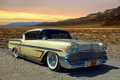 Photograph - 1958 Chevrolet Impala Low Rider by Tim McCullough