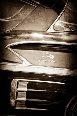 1958 Chevrolet Impala Side Emblem Art Print