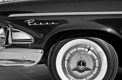 Photograph - 1958 Edsel Pacer Wheel Emblem by Jill Reger