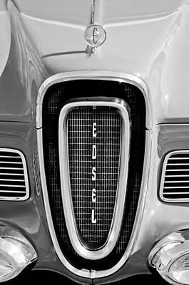 Roundup Photograph - 1958 Edsel Roundup Grille Emblem by Jill Reger
