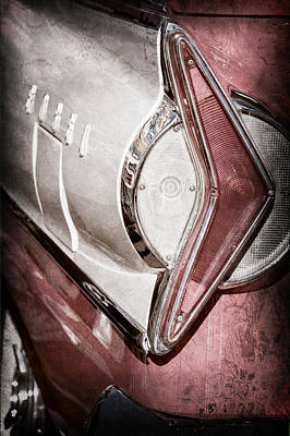 Photograph - 1958 Edsel Wagon Taillight Emblem by Jill Reger