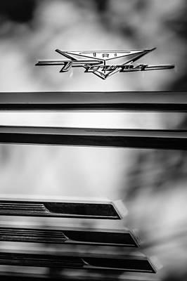 Bonneville Images Photograph - 1958 Pontiac Bonneville Tri Power Emblem by Jill Reger