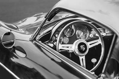 1958 Porsche 356 1600 Super Speedster Steering Wheel Art Print by Jill Reger