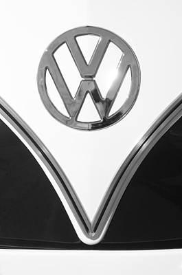 Bus Photograph - 1958 Volkswagen Vw Bus Emblem by Jill Reger