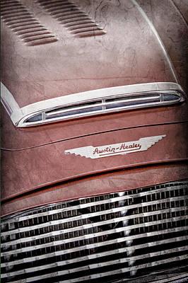 Photograph - 1959 Austin Healey Roadster Hood Emblem by Jill Reger