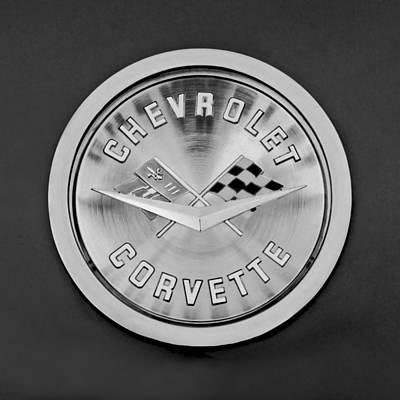 1959 Chevrolet Corvette Emblem Art Print by Jill Reger
