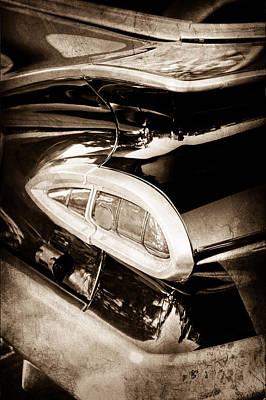 1959 Chevrolet Impala Taillight Art Print by Jill Reger