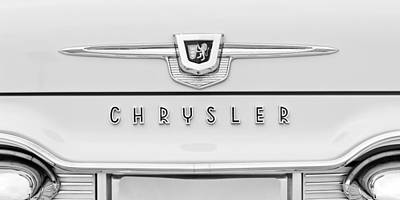 Photograph - 1959 Chrysler New Yorker Emblem by Jill Reger