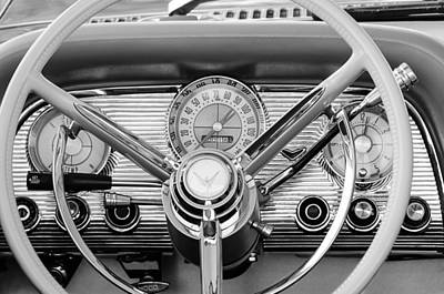 Ford Thunderbird Photograph - 1959 Ford Thunderbird Convertible Steering Wheel by Jill Reger