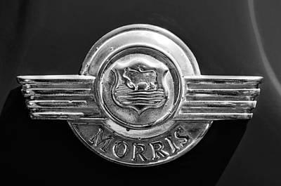 Photograph - 1959 Morris Panel Truck Emblem by Jill Reger