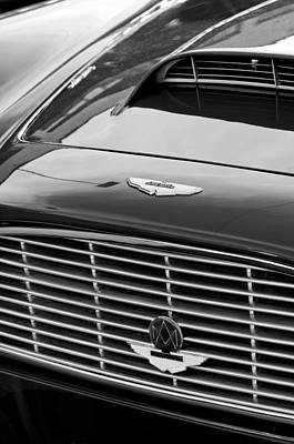 Photograph - 1960 Aston Martin Db4 Grille Emblem by Jill Reger