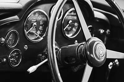 1960 Aston Martin Db4 Gt Coupe' Steering Wheel Emblem Art Print by Jill Reger