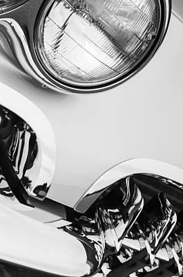 1960 Chevrolet Corvette Head Light Print by Jill Reger