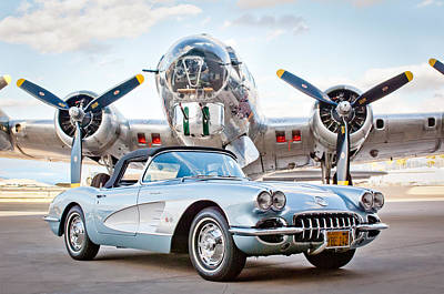 B-17 Photograph - 1960 Chevrolet Corvette by Jill Reger