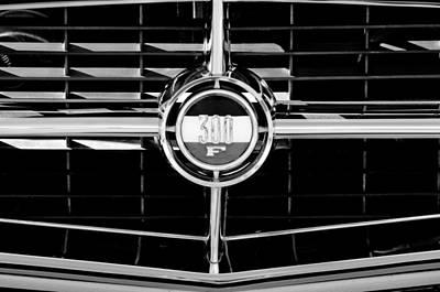 Chrysler 300 Photograph - 1960 Chrysler 300 Grille Emblem by Jill Reger