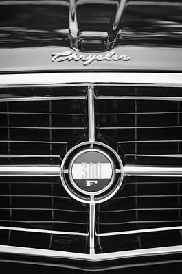Chrysler 300 Photograph - 1960 Chrysler 300f Convertible Grille Emblem by Jill Reger