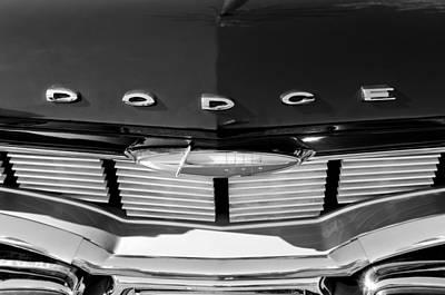 1960 Dodge Grille Emblem Art Print by Jill Reger