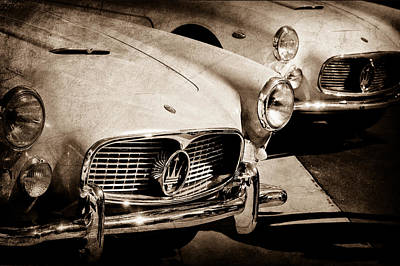 1960 Maserati Grille Emblem Art Print by Jill Reger