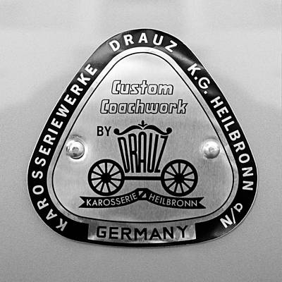 1960 Porsche 356 B 1600 Super Roadster Emblem Art Print by Jill Reger