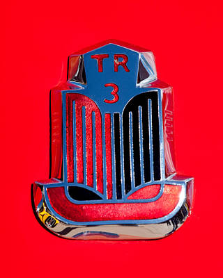 Photograph - 1960 Triumph Tr3 Emblem by Jill Reger