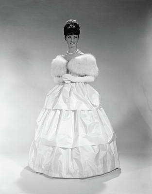 Ball Gown Photograph - 1960s Pretty Young Woman Wearing Tiara by Vintage Images