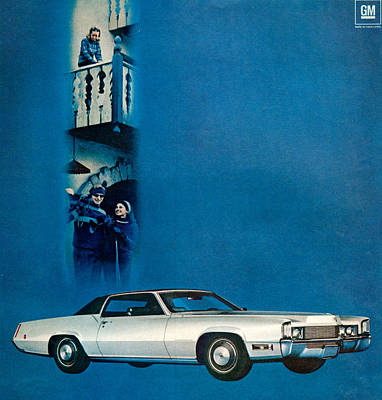 1960s Usa Cadillac Magazine Advert Art Print