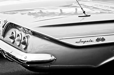 1961 Chevrolet Impala Ss Taillight Emblem Art Print by Jill Reger