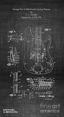Photograph - 1961 Fender Guitar by Doc Braham