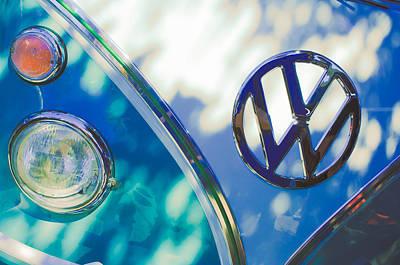 Photograph - 1961 Volkswagen Vw Transporter Emblem by Jill Reger