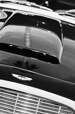 Photograph - 1962 Aston Martin Db4 Hood Emblem - Grille by Jill Reger