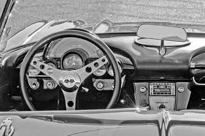Photograph - 1962 Chevrolet Corvette Steering Wheel by Jill Reger
