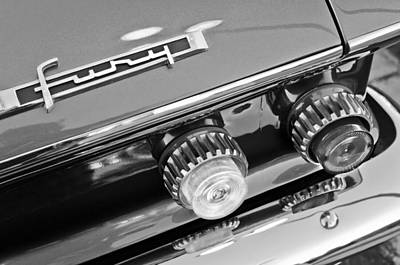 Photograph - 1962 Plymouth Fury Taillights And Emblem by Jill Reger