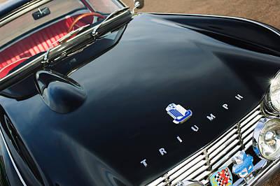 Photograph - 1962 Triumph Tr4 Hood Emblem by Jill Reger