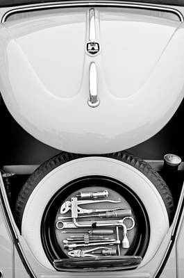 Photograph - 1962 Volkswagen Vw Bug Tool Kit by Jill Reger