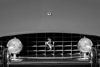 Photograph - 1963 Ferrari Grille Emblem by Jill Reger