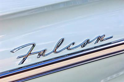 1963 Ford Photograph - 1963 Ford Falcon Futura Convertible  Emblem by Jill Reger