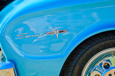 1963 Ford Photograph - 1963 Ford Falcon Sprint Side Emblem by Jill Reger